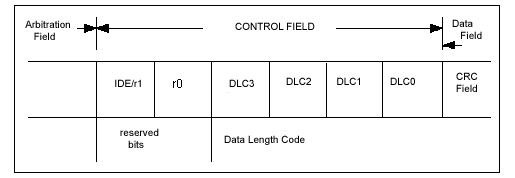 Поле управления (стандартный формат и расширенный формат)