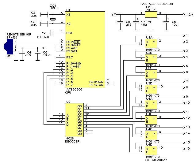 Принципиальная схема контроллера ДУ
